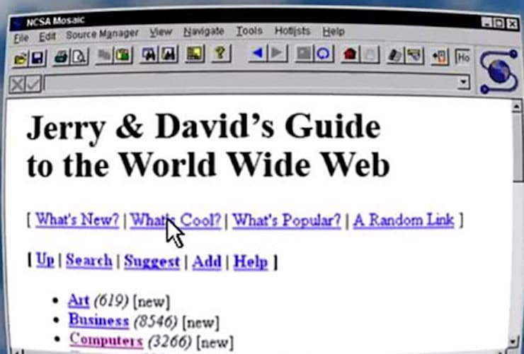 Jerry And David's Guide To The World Wide Web → Yahoo!