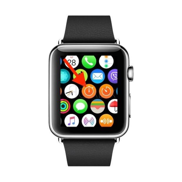 Секундомер на Apple Watch
