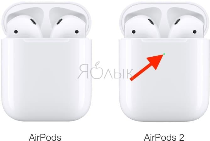 Сравнение дизайна AirPods 1 и AirPods 2 (2019)