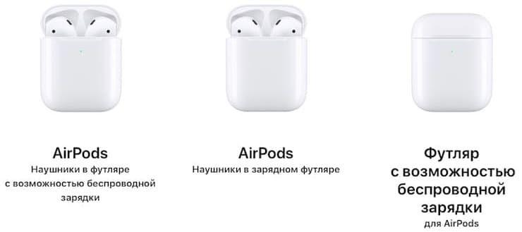 Цена AirPods 2 (2019 года)