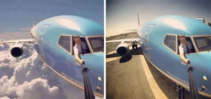 Опасное селфи летчика