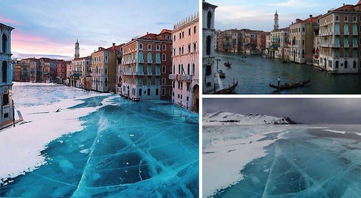 Покрытая льдом Венеция