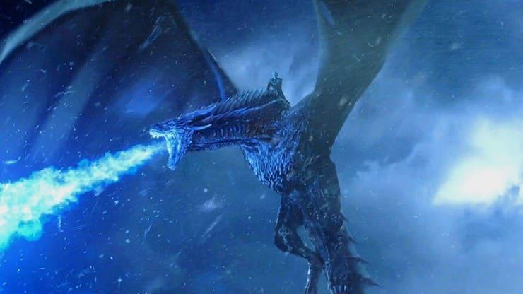Лядяной дракон из Игры Престолов