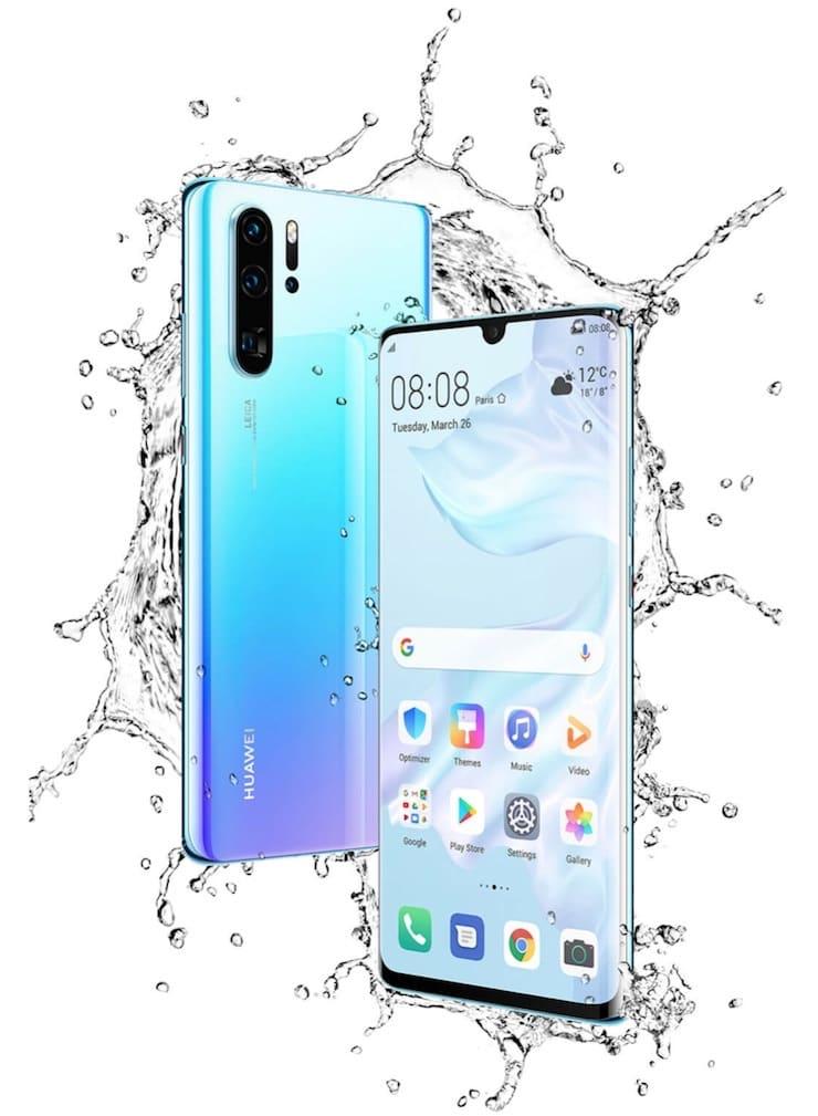 Huawei P30 Pro - защита от воды