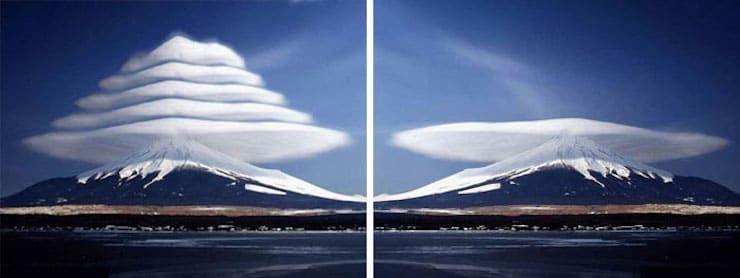 Идеальные линзовидные облака