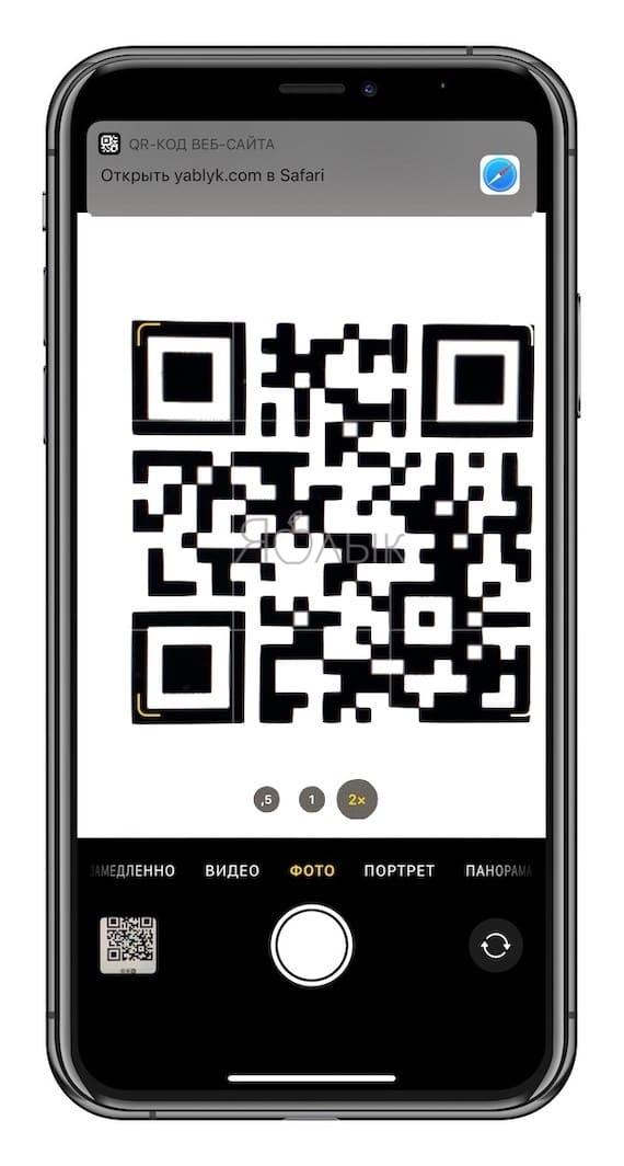 Какие QR-коды умеет считывать камера iPhone