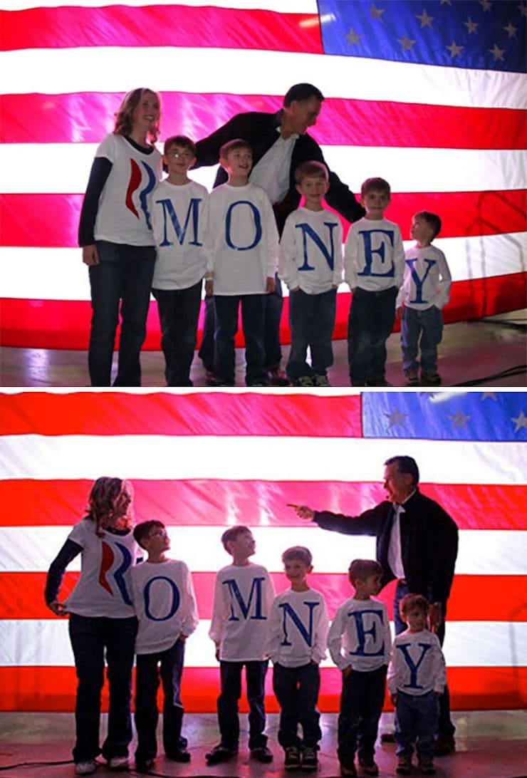 Семья Ромни неправильно написала свою фамилию