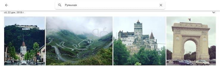 Google Фото - поиск
