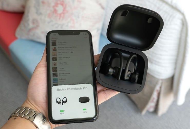 Подключение Powerbeats Pro от Beats