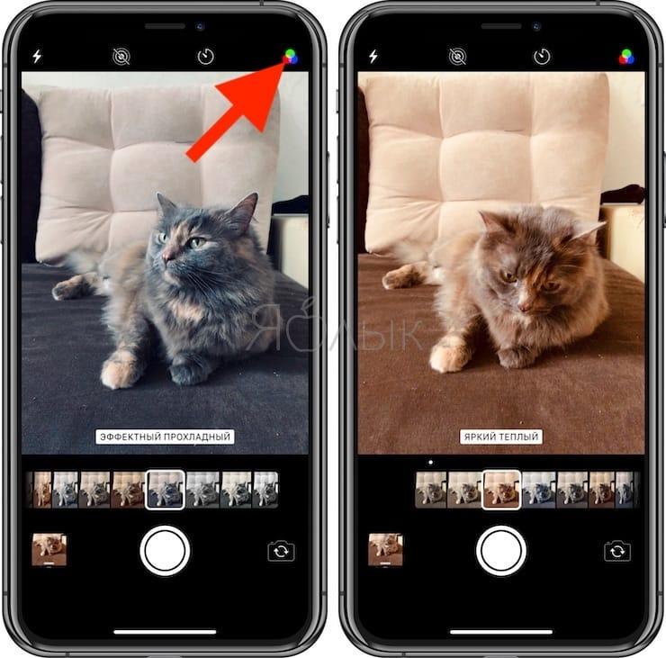 Фильтры в Камере iPhone и iPad