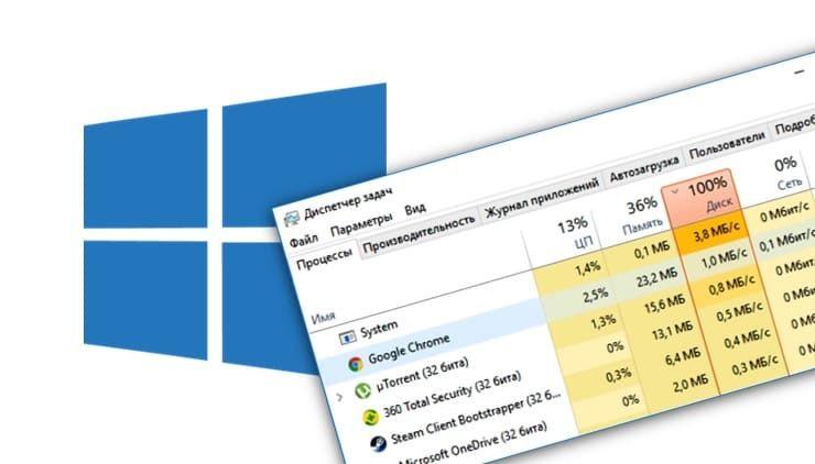 Диск загружен на 100% на Windows: как исправить ошибку