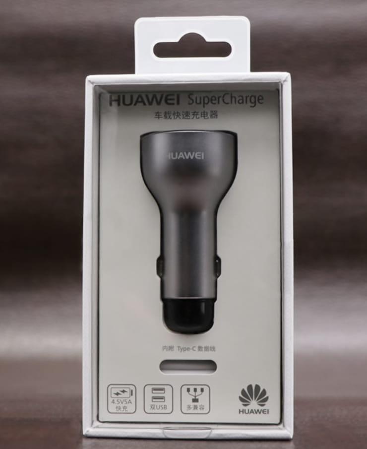 Автомобильное зарядное Huawei (Quick Charge, 2×USB, в комплекте кабельType-C)