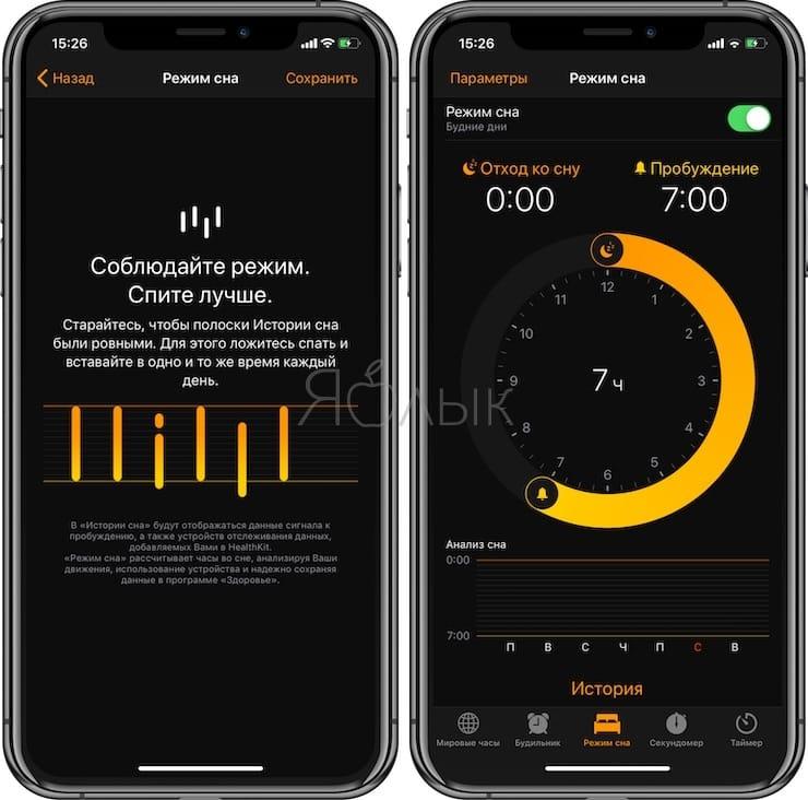 Режим сна на iPhone