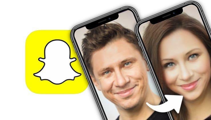 Как поменять пол в Snapchat на фото и видео