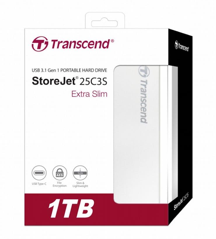 Transcend StoreJet 25C3S – портативный накопитель на 2 Тб в шикарном корпусе