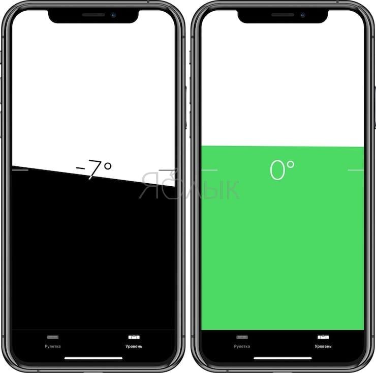 Уровень в iPhone