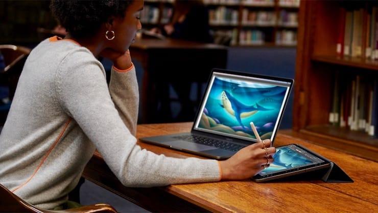iPad, как второй дисплей для Mac