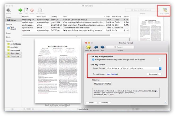 BibDesk – библиографический менеджер для Mac