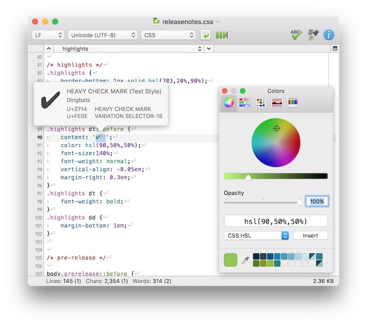 CotEditor –редактор текста или кода