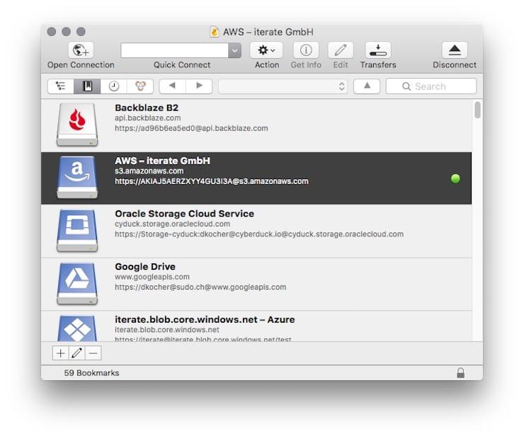 Cyberduck – FTP-клиент с поддержкой облачных хранилищ