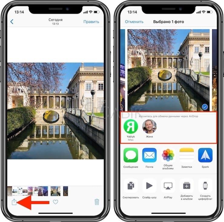 Как передавать файлы через AirDrop с iPhone, iPad и iPod Touch на Mac или другие iPhone, iPad и iPod Touch?