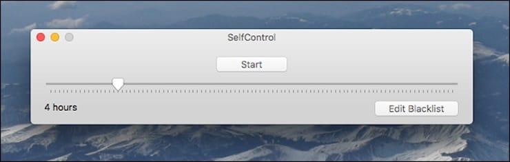 SelfControl – добавление сайтов в «черный список» на Mac