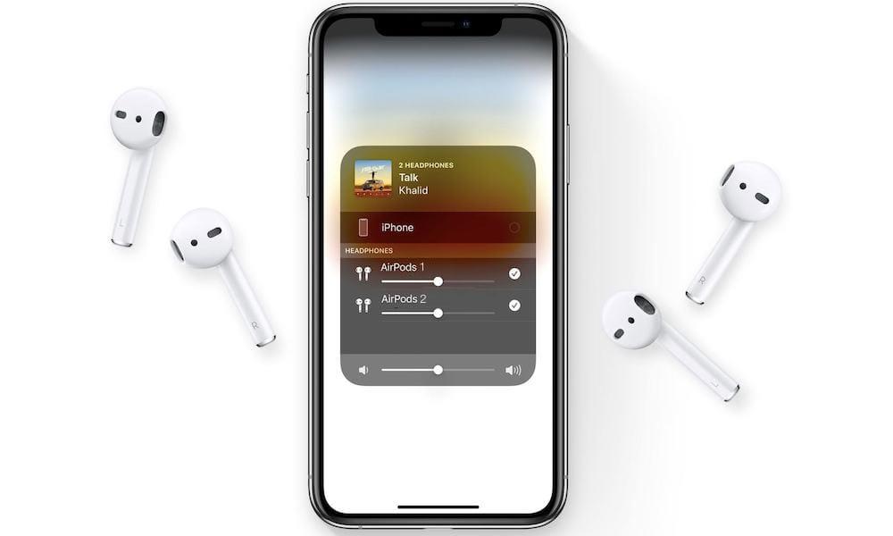 Как подключить двое наушников AirPods к одному iPhone или iPad