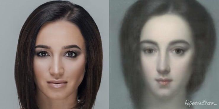 Как создать живописную картину из фото на сайте AI Portraits