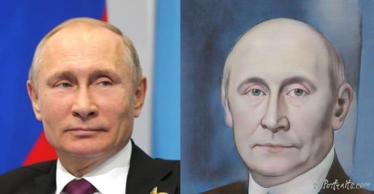 Как создать живописную картину из фото бесплатно на сайте AI Portraits