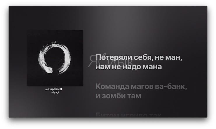 Обновленное приложение «Музыка» в tvOS