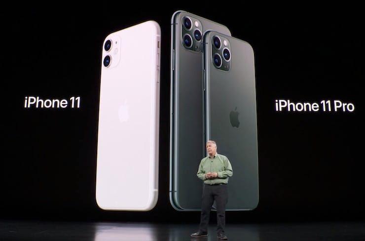 iPhone 11 и iPhone 11 Pro на презентации Apple
