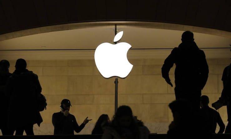 Логотип Apple в магазине