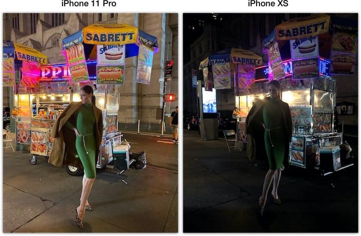Ночной режим в iPhone 11 pro