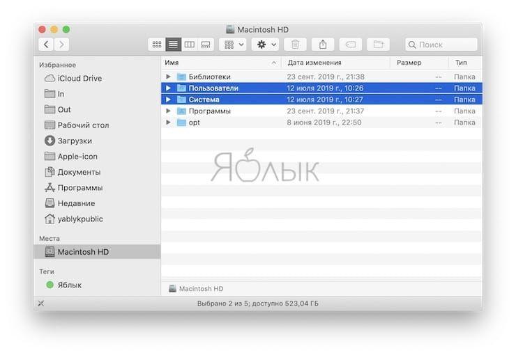 Управление видом отображения файлов в Finder на Mac при помощи горячих клавиш