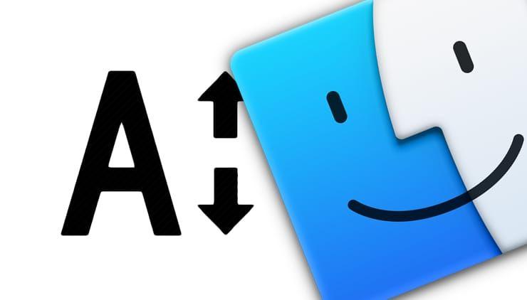 Как увеличить размер шрифта на дисплее Mac