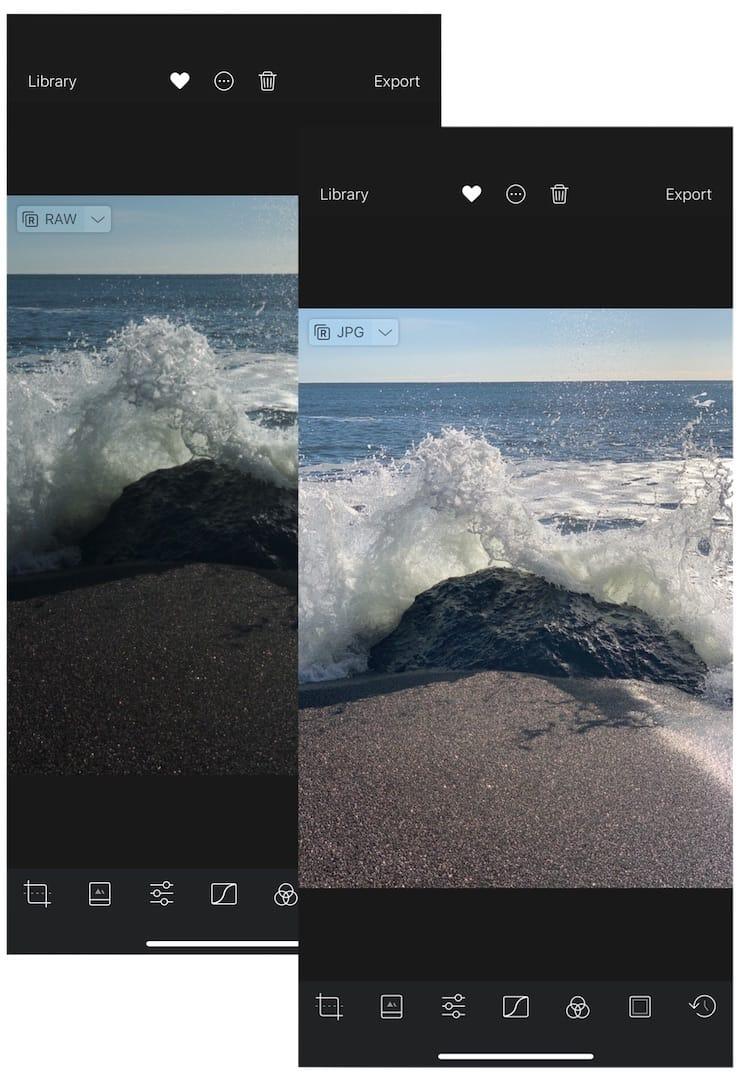 Как снимать фото в формате RAW на iPhone и iPad