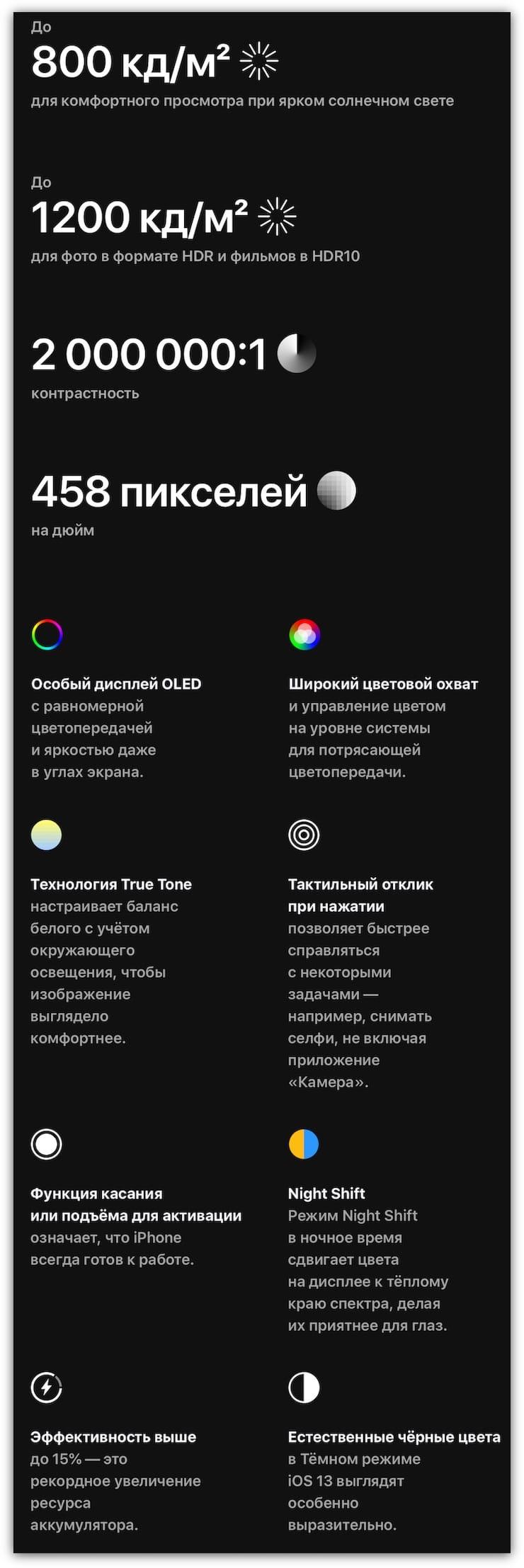 Экран iPhone 11 Pro и iPhone 11 Pro Max