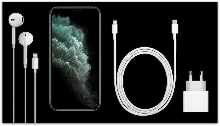 Комплект поставки iPhone 11 Pro и iPhone 11 Pro Max