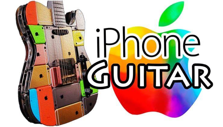 Гитара из 107 корпусов от iPhone