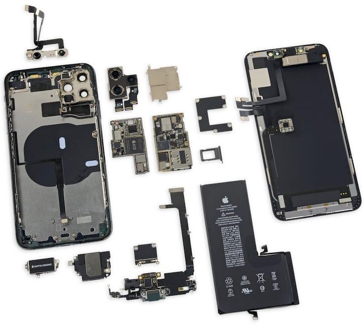 комплектующие и сборка iPhone 11 Pro Max