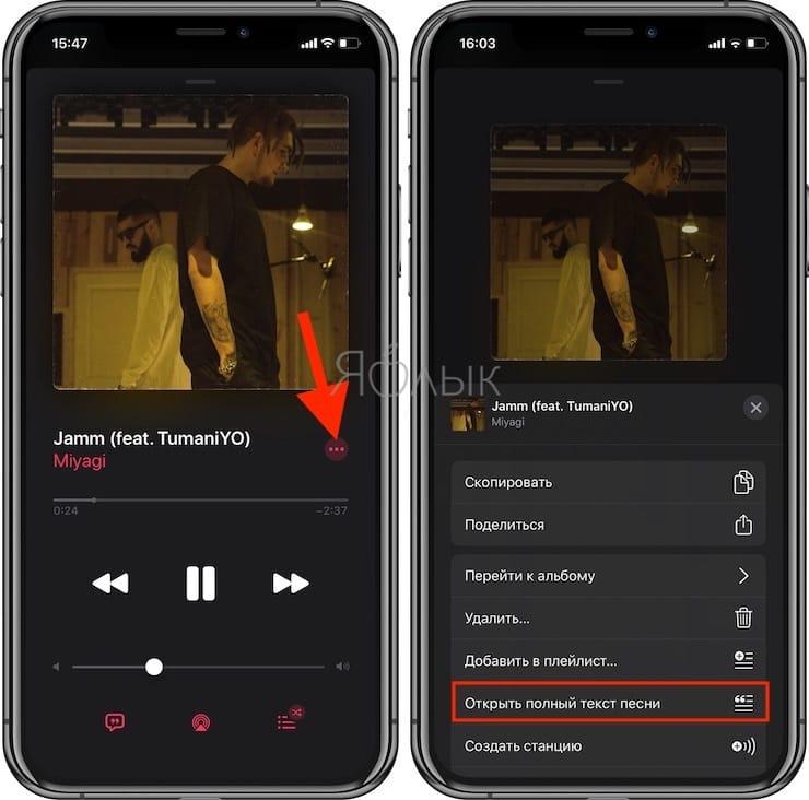 Как в Apple Music на iPhone и iPad включить режим Караоке