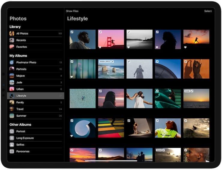 Пользовательский интерфейс Pixelmator Photo