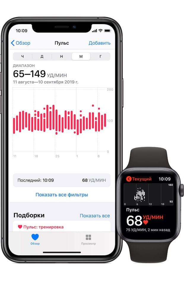 Apple Watch и приложение Здоровье