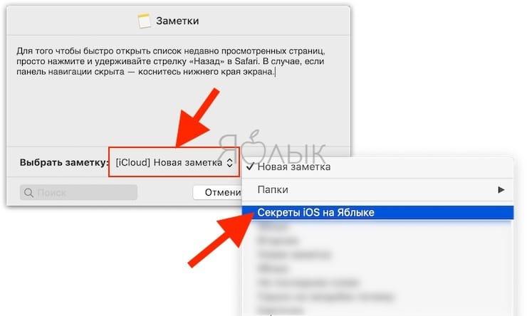 Как создавать заметки на Mac из выделенного текста, картинок и ссылок