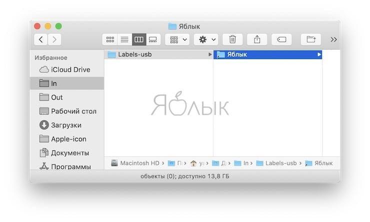 неудаляемые ярлыки папок в боковом меню Finder на Mac
