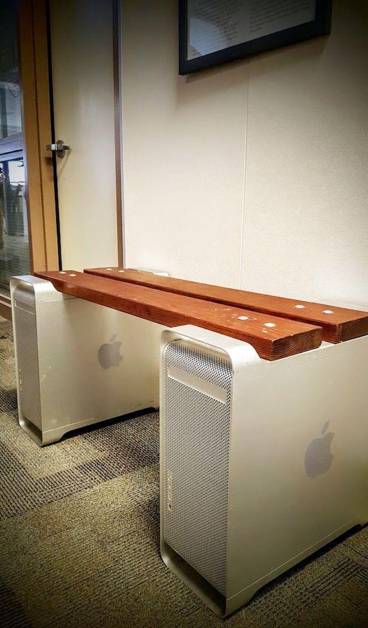 скамейка из старого Mac Pro