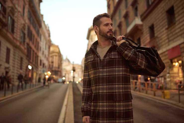 Фотосессия мужчины на улице