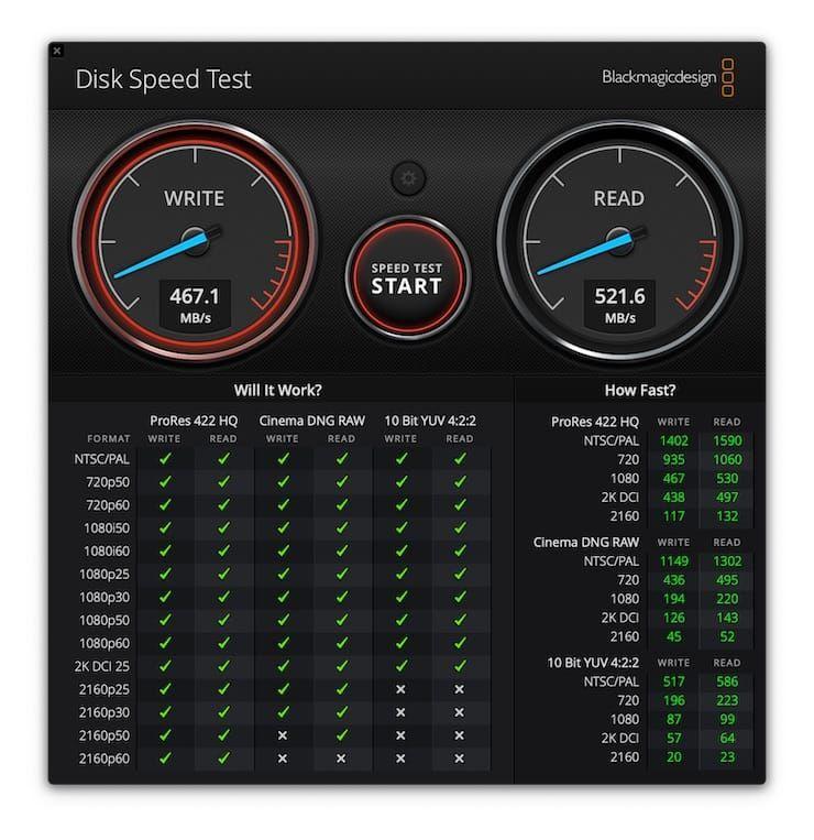 Скорость передачи данных Transcend ESD250C