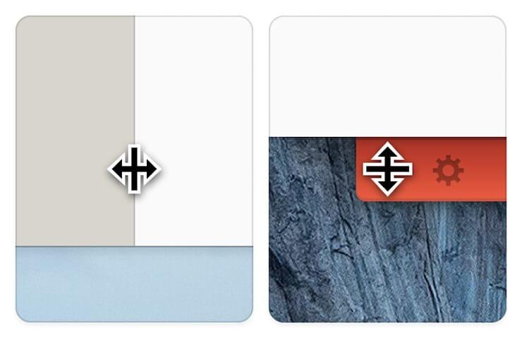 Изменение размеров панелей Unclutter