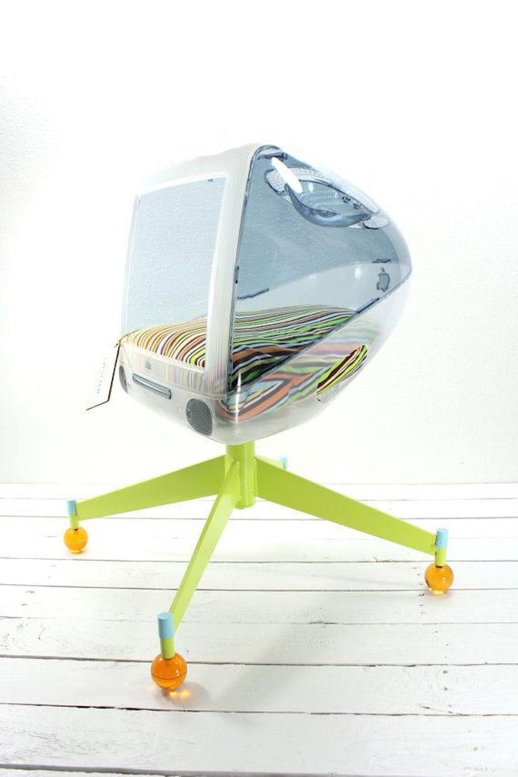 кровать для питомца из старого iMac